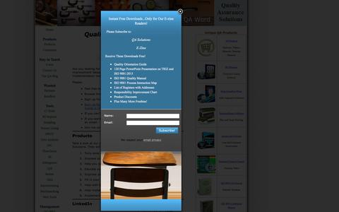 Screenshot of Contact Page quality-assurance-solutions.com - Quality Assurance Seminar - captured July 14, 2016