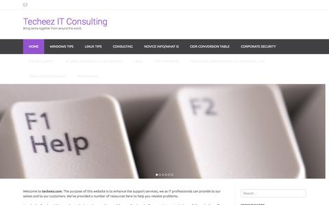 Screenshot of Home Page techeez.com - Techeez IT Consulting | Bring techs together from around the world - captured Aug. 12, 2015