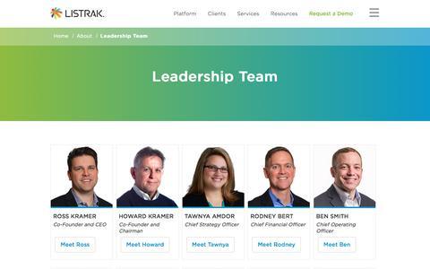 Leadership Team | Listrak