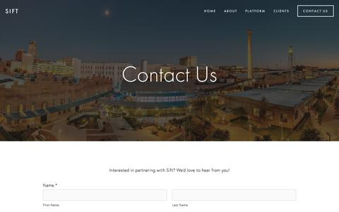 Screenshot of Contact Page sift.co - Contact Us — Sift - captured July 6, 2017
