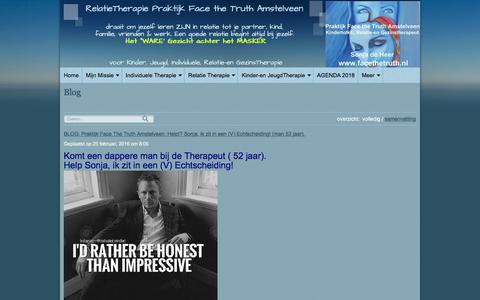 Screenshot of Blog praktijkfacethetruth.nl - BLOG: Praktijk Face the Truth Amstelveen: Komt een Kind bij de Therapeut! door Sonja de Heer - captured Aug. 12, 2018