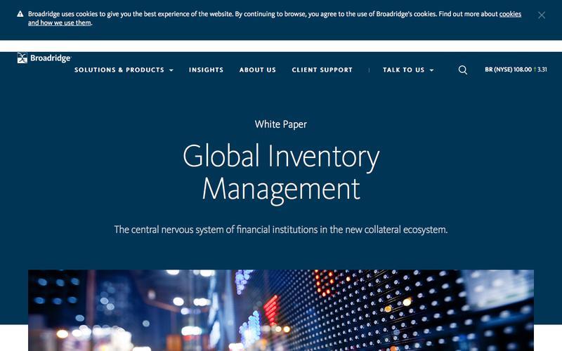 Global Inventory Management Whitepaper   Broadridge