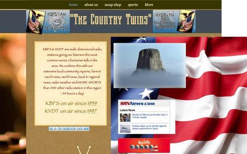 Screenshot of Home Page kbfs.com - kbfs - captured Oct. 10, 2015