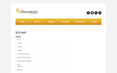 Screenshot of Site Map Page bernstein-co.com - Bernstein Business Consulting Services - Site Map - captured Nov. 21, 2016