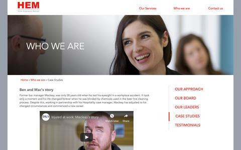 Screenshot of Case Studies Page hotelemployersmutual.com.au - Case Studies - Hotel Employers Mutual - captured Oct. 24, 2018