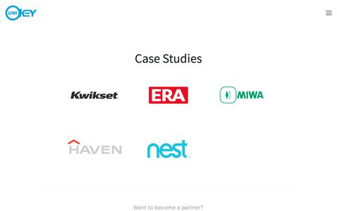 Screenshot of Case Studies Page unikey.com - Case Studies — UniKey - captured Sept. 3, 2017