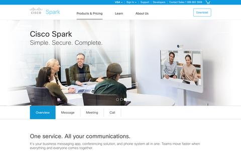 Cisco Spark. Messages, meetings, and calls. All in one.