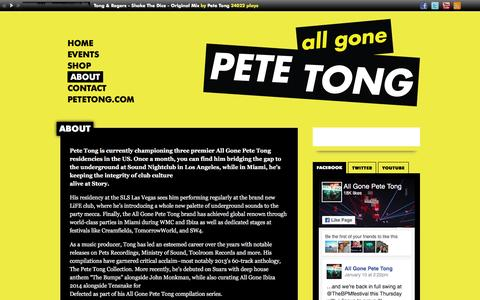 Screenshot of About Page allgonepetetong.com - About   All Gone Pete Tong - captured Jan. 27, 2017