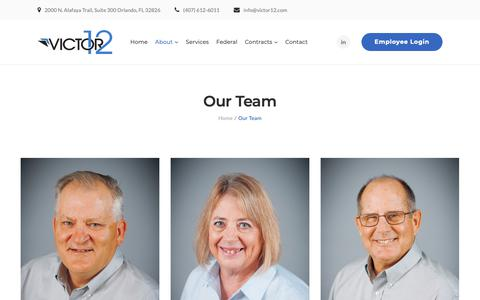 Screenshot of Team Page victor12.com - Our Team | Victor 12 - captured Dec. 13, 2018