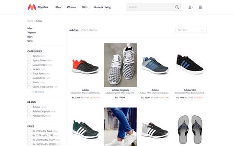 Screenshot of myntra.com - Adidas - Exclusive Adidas Online Store in India at Myntra - captured May 6, 2017