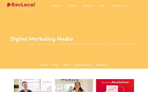 Screenshot of Press Page revlocal.com - Digital Marketing Media | RevLocal - captured Oct. 9, 2018