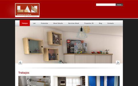 Screenshot of Home Page ebanisterialan.com - Trabajos - Ebanistería LANEbanistería LAN   Ebanisteria y carpinteria de madera en Vitoria-Gasteiz - captured Sept. 25, 2018