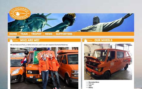 Screenshot of Team Page clochardmoderne.com - CMOT Home - captured Sept. 30, 2014