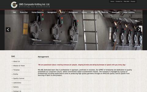 Screenshot of Team Page gmsbd.com - Management - captured Oct. 16, 2016