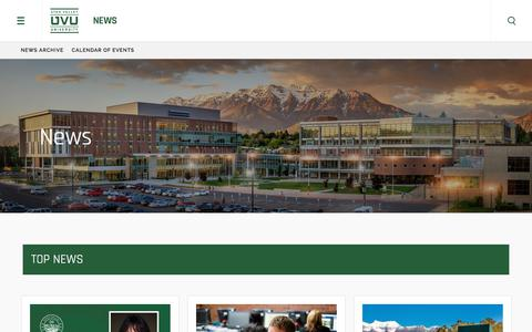 Screenshot of Press Page uvu.edu - News | Utah Valley University - captured June 29, 2018