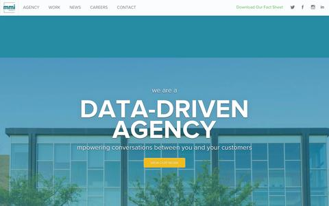 Screenshot of Home Page mmiagency.com - Houston Advertising Agency | Social Media Marketing & Public Relations Firm - MMI Agency - captured Dec. 19, 2015