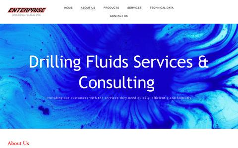 Screenshot of About Page enterprisedrillingfluids.com - About Us | Enterprise Drilling Fluids, Bakersfield, CA - captured July 19, 2018