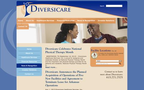 Screenshot of Blog dvcr.com - Diversicare - captured Oct. 5, 2014
