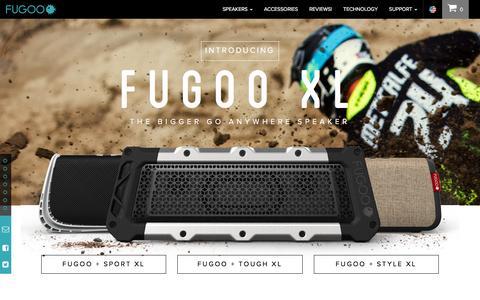 Screenshot of Home Page fugoo.com - The Best Waterproof Bluetooth Speakers for Outdoors - FUGOO - captured Oct. 15, 2015