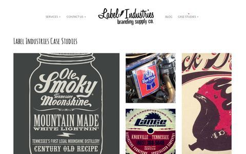 Screenshot of Case Studies Page labelindustries.com - Label Industries »  branding supply co.Case Studies - Label Industries - captured Oct. 1, 2014