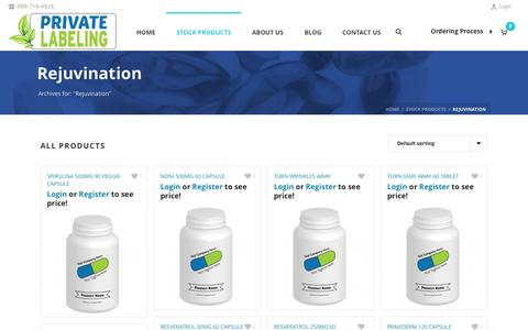 Rejuvination Archives - Private Label Supplements and Vitamins