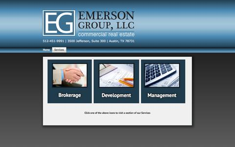 Screenshot of Services Page emersongroup.net - Services - Emerson Group, LLC - captured Oct. 26, 2014
