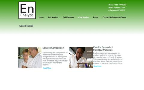 Screenshot of Case Studies Page enalytic.com - Enalytic Projects - captured Oct. 2, 2014