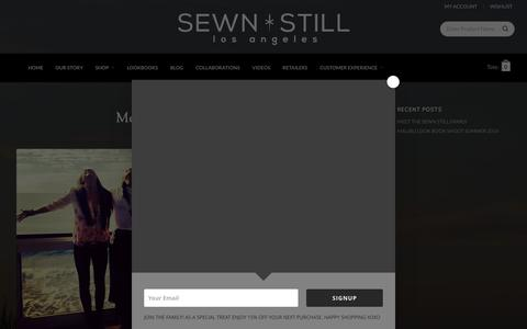 Screenshot of Blog sewnstill.com - Blog | Sewn Still LA | High-end Fashion Apparel Los Angeles - captured Dec. 1, 2015