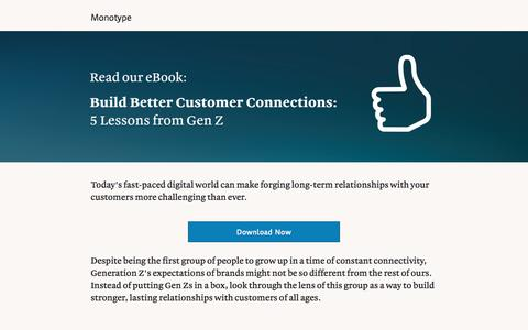 Screenshot of Landing Page monotype.com - Build Better Customer Connections   Monotype - captured Sept. 11, 2017