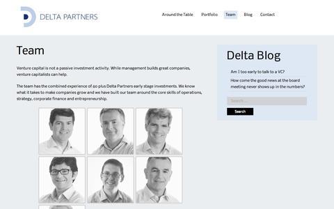 Screenshot of Team Page deltapartners.com - Team | Delta Partners - captured Oct. 1, 2014