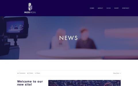 Screenshot of Press Page modiron.com - News — Modiron - captured Oct. 23, 2017