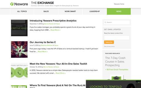 News Archives - Yesware Blog Archive - Yesware Blog