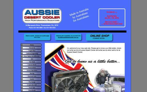 Screenshot of Home Page aussiedesertcooler.com.au - Home - captured July 31, 2018