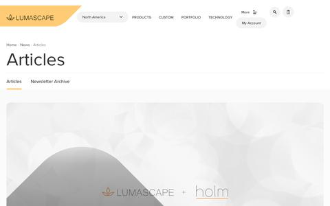 Screenshot of Press Page lumascape.com - Lighting Articles & Blog | Lumascape - captured Sept. 30, 2018