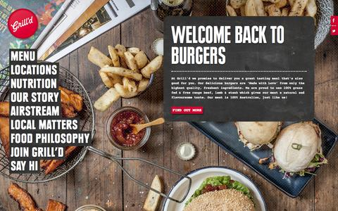 Screenshot of Home Page grilld.com.au - Grill'd - captured Sept. 19, 2014