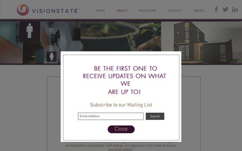 Screenshot of About Page visionstate.com - Visionstate | ABOUT - captured Nov. 18, 2018