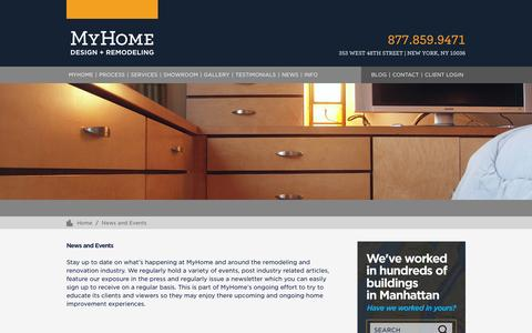 Screenshot of Press Page myhomeus.com - News and Events – MyHome Design + Remodeling - captured Feb. 15, 2016