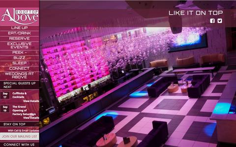 Screenshot of Home Page aboverooftop.com - Staten Island's Hottest Rooftop Lounge! - Above Rooftop - captured Sept. 20, 2015