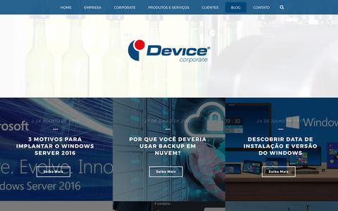 Screenshot of Blog device.com.br - Blog - Device Corporate - captured Oct. 12, 2017