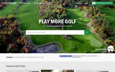 Screenshot of Home Page chronogolf.com - Best Courses, Better Prices - Chronogolf - captured Sept. 13, 2014