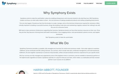 Screenshot of About Page symphonycommerce.com - About Us | Symphony Commerce - captured July 3, 2015