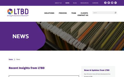 Screenshot of Press Page ltbd.com - News - LTBD - captured July 9, 2017