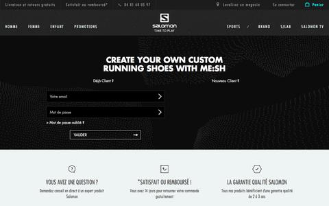 Screenshot of Login Page salomon.com - Identifiant client - captured April 28, 2018