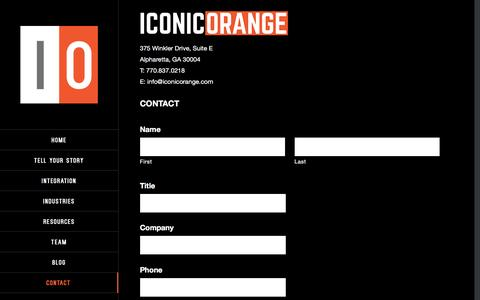 Screenshot of Contact Page Locations Page iconicorange.com - Location | Iconic Orange - captured March 4, 2016