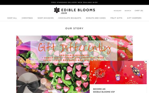 Screenshot of About Page Team Page edibleblooms.co.nz - Our Story – Edible Blooms New Zealand - captured Dec. 14, 2018