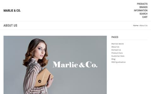 Screenshot of About Page marlieandco.com.au - About Us - Marlie & Co. leather handbags - captured Oct. 17, 2017