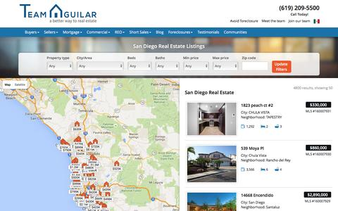 Screenshot of Maps & Directions Page teamaguilar.com - San Diego Homes for Sale Map - Team Aguilar - captured Feb. 13, 2016