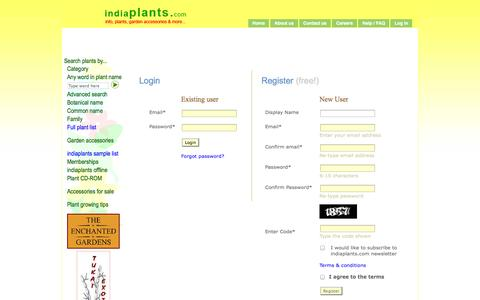 Screenshot of Login Page indiaplants.com - indiaplants.com - Login - captured Oct. 6, 2014