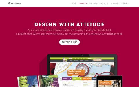Screenshot of Services Page attitudedesign.co.uk - Graphic Design Services - What Attitude Design Offer - Nottingham Graphic Design - captured Sept. 23, 2014