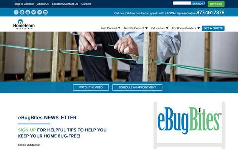 Screenshot of Signup Page pestdefense.com - eBugBites Sign Up - HomeTeam Pest Defense - captured July 21, 2019